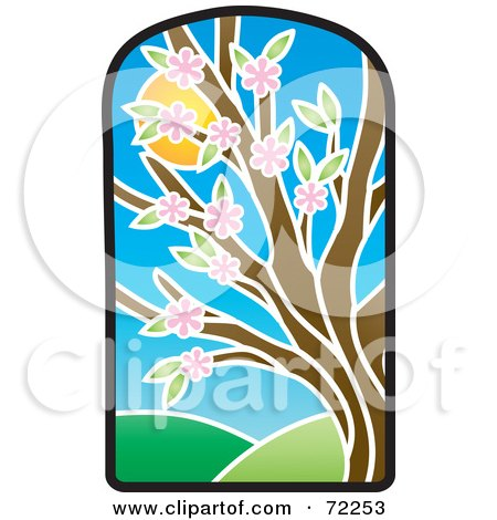 450x470 Royalty Free (Rf) Clipart Illustration Of A Stained Glass Spring