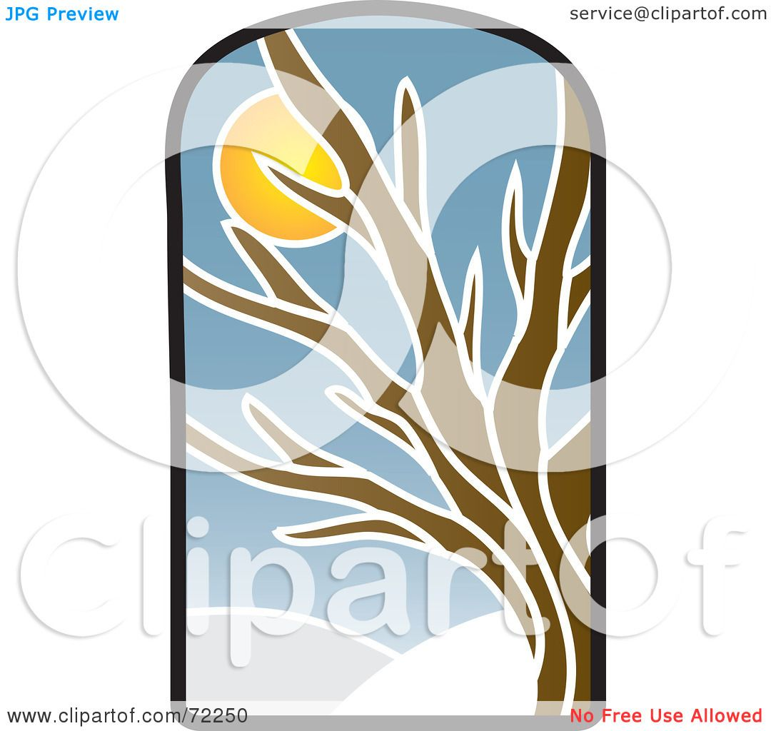 1080x1024 Royalty Free (Rf) Clipart Illustration Of A Stained Glass Winter