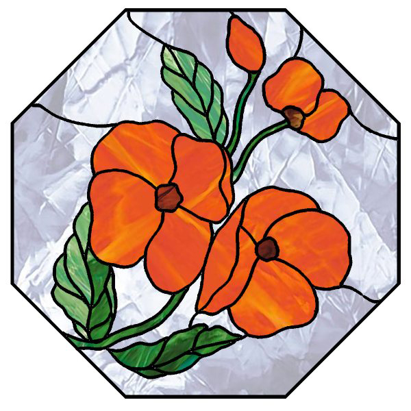 600x600 Stained Glass Clipart Easy