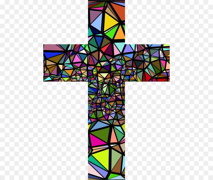 900x760 Window Stained Glass Christian Cross Clip Art