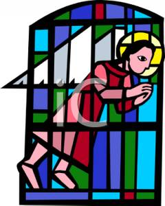 240x300 A Stained Glass Church Window Depicting An Angel