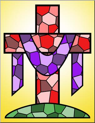 304x394 Clip Art Religious Cross 3 Color 1 I Abcteach