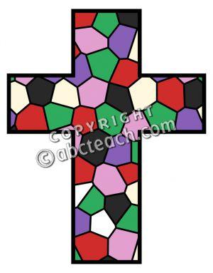 300x383 Cross Clip Art With Mosaic Clipart Panda