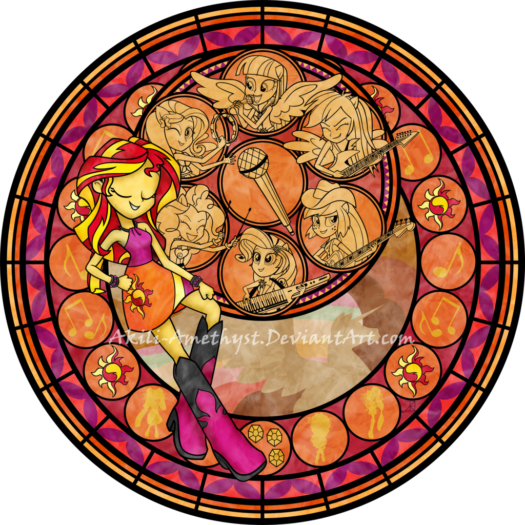 1024x1024 Stained Glass Clipart Rainbow