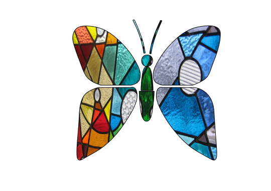 540x380 Stained Glass Butterfly Clipart