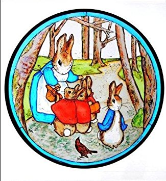 325x355 Bunny Clipart Stained Glass