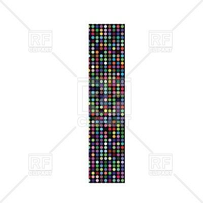 400x400 Colorful Mosaic Font