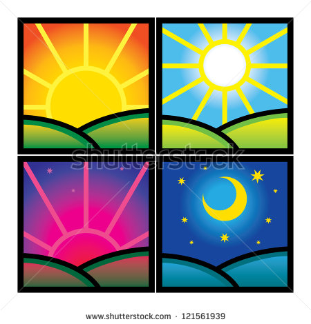 450x470 Late Afternoon Sunshine Clipart