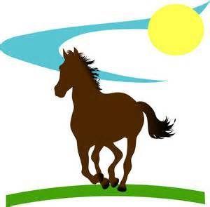 300x295 Horse Running Clip Art