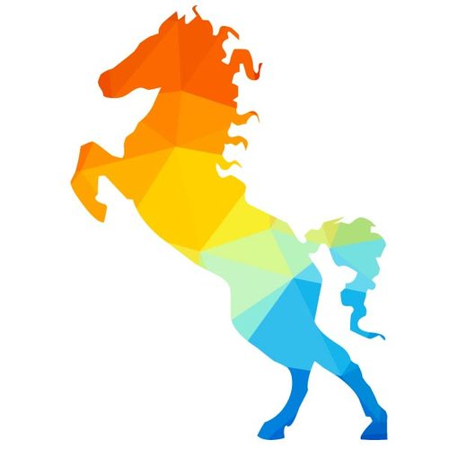 500x500 7403 Running Horse Silhouette Clip Art Free Public Domain Vectors