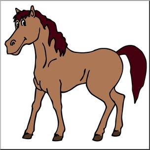 304x304 Clip Art Cartoon Horse Stallion Color I Abcteach