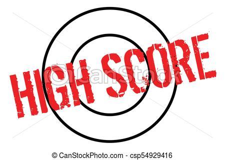 450x320 High Score Typographic Stamp. Typographic Sign, Badge Or Vector