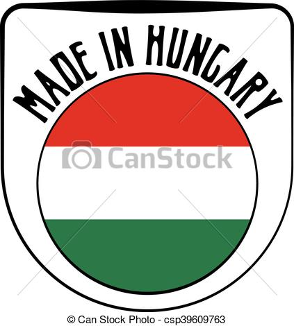 423x470 Made In Hungary Rubber Stamp. Made In Hungary Badge Sign . Clip