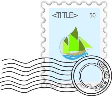 425x367 Postage Stamp Clip Art Vector Download