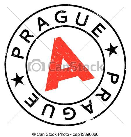 450x470 Prague Stamp Rubber Grunge. Prague Stamp. Grunge Design