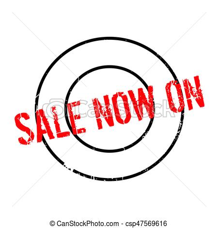 450x470 Sale Now On Rubber Stamp. Grunge Design With Dust Scratches