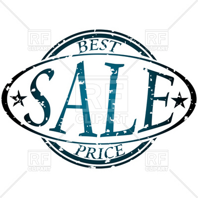 400x400 Sale Oval Stamp Royalty Free Vector Clip Art Image