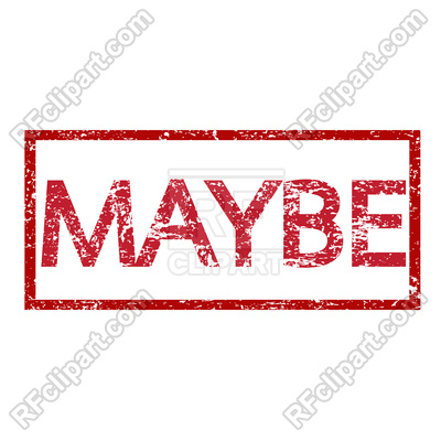 400x400 Stamp Text Maybe Royalty Free Vector Clip Art Image