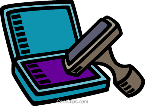 480x353 Rubber Stamp Pad Royalty Free Vector Clip Art Illustration