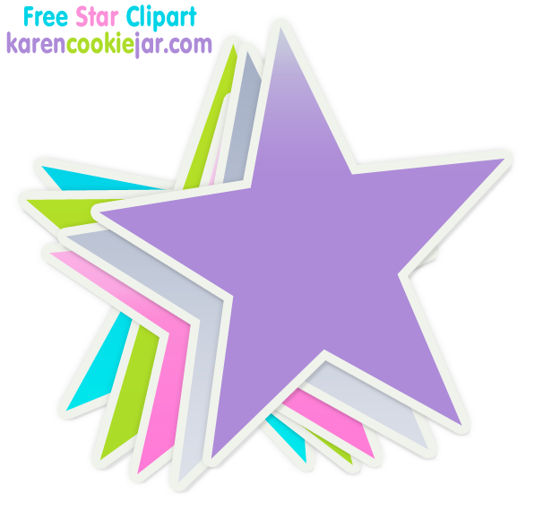 596x579 Shooting Star Clipart Colourful Star