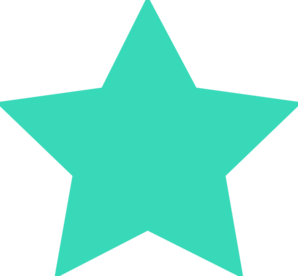 298x276 Turquoise Star Clip Art