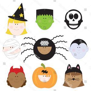 300x300 Halloween Kids Clip Art Set Children Shopatcloth