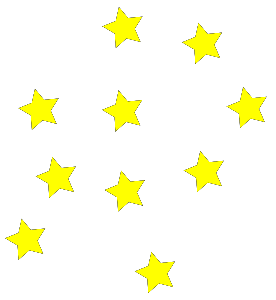 552x599 Image Of Star Border Clipart