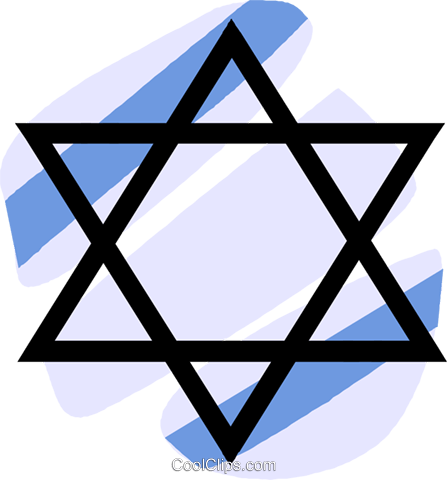 447x480 Judaism Star Of David Royalty Free Vector Clip Art Illustration