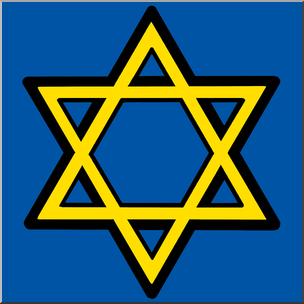 304x304 Clip Art Hanukkah Star Of David Color I Abcteach