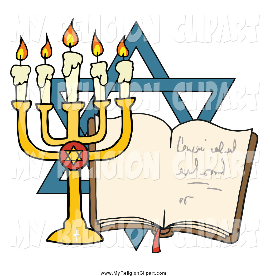 1024x1044 Religion Clip Art A Menorah And Book In Front The Star