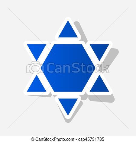 450x470 Shield Magen David Star Inverse. Symbol Of Israel Inverted