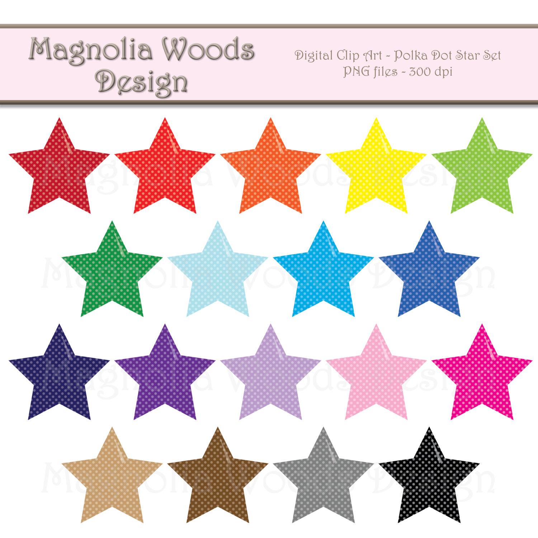 1500x1500 Star Clipart Polka Dot