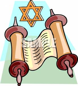 275x300 Clip Art Image The Torah And The Star Of David