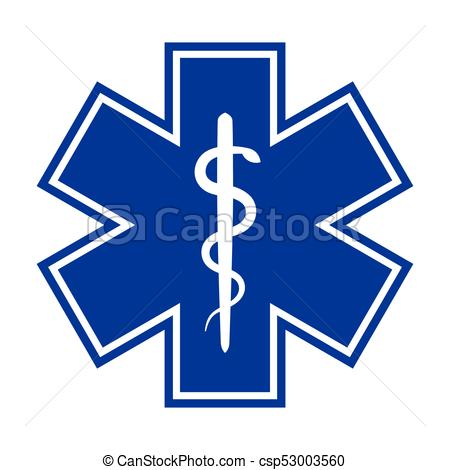 450x470 The Star Of Life (With The Staff Of Asclepius). Modern Clip Art