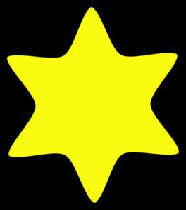 264x299 David Star Yellow Clip Art