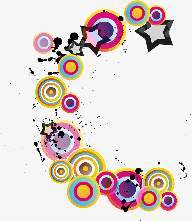 650x746 Colorful Round Decorative Pattern, Color, Star, Round Decoration