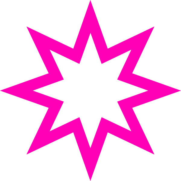 600x600 Pink Star Clipart