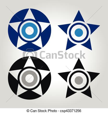 450x470 Star And Evil Eye Logo Vector Illustration Clipart Vector