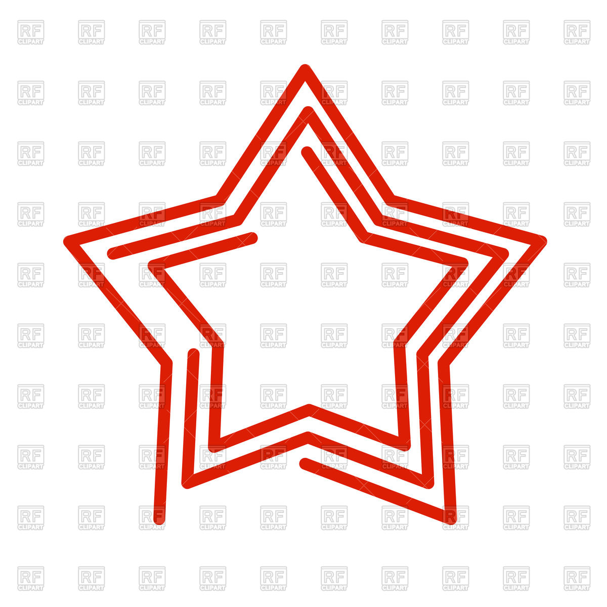 1200x1200 Star Line Style On White Background Royalty Free Vector Clip Art