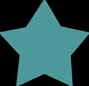 299x288 Teal Star Clip Art