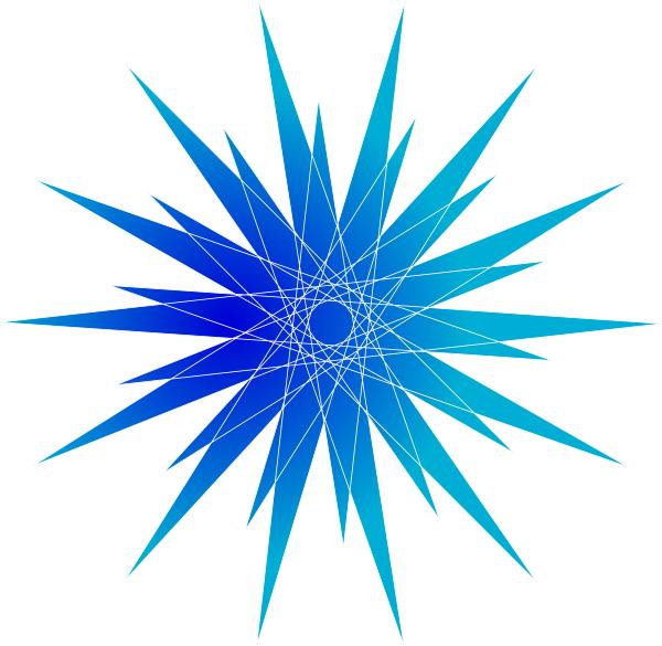 600x585 Blue Stars Clipart Free