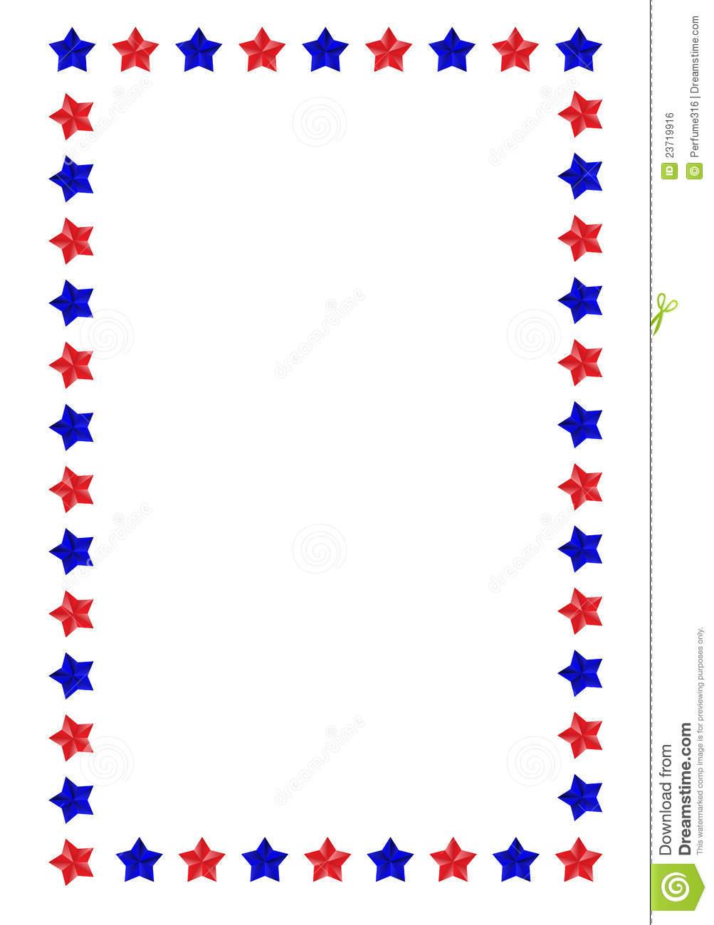 1003x1300 American Star Border Clipart