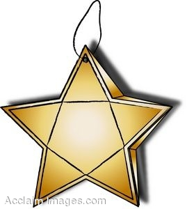 269x300 Clip Art Of A Christmas Ornament Shaped Like A Star