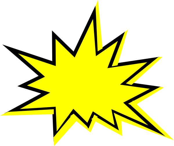 600x503 Clipart Explosion Star Collection