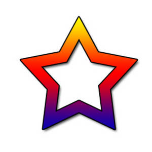 300x300 Free Clipart Picture Of An Open Rainbow Star