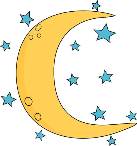 467x500 Moon And Stars Clipart