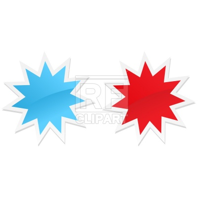 400x400 Shiny Stickers, Star Shape Free Download Vector Clip Art Image