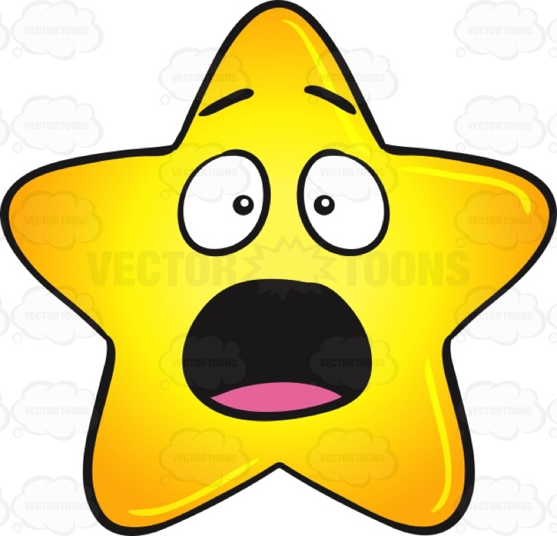 800x770 Startled And Shocked Gold Star Cartoon Emoji Cartoon Clipart