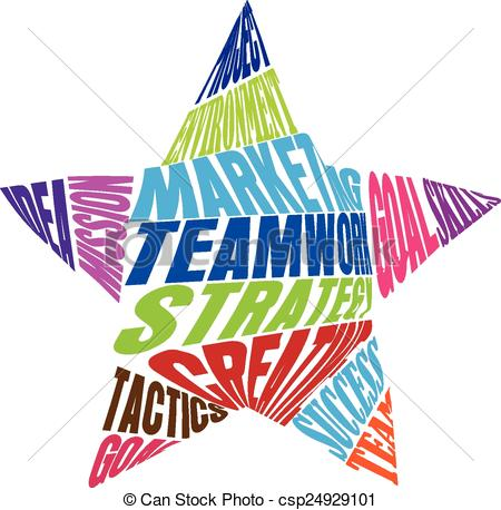450x458 Teamwork Words Star Shape Logo. Teamwork Words Meaning In A Star