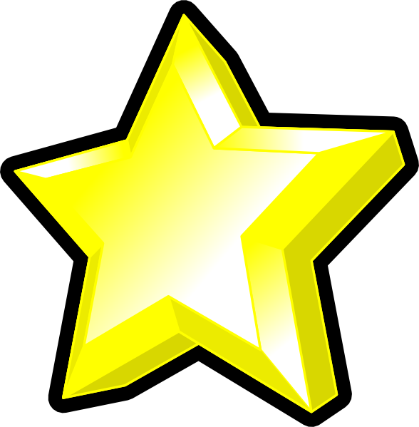 588x599 3d Star Symbol 3d Star, Clip Art And Symbols